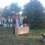 Освящение поклонного креста в Кушликах