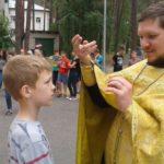 Молебен в детском оздоровительном лагере «Космос»