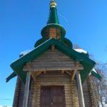 Первое богослужение в строящемся храме в честь святого великомученика Георгия Победоносца в агрогородке Гомель